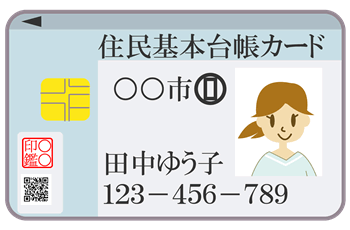 住基カードのイメージ